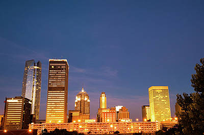 Skylines Royalty-Free and Rights-Managed Images - Oklahoma City Skyline - Downtown OKC by Gregory Ballos