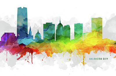 Oklahoma City Skyline Mmr-usokoc05 Art Print