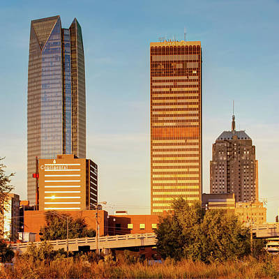 Photograph - Oklahoma City Skyline Square Vibrant Color by Gregory Ballos