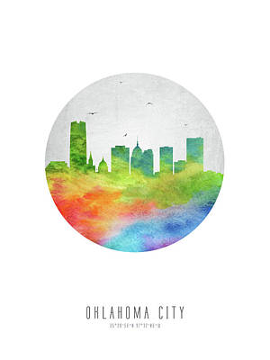 Oklahoma City Skyline Usokoc20 Art Print