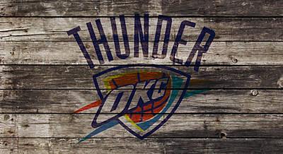 Oklahoma City Thunder Mixed Media - Oklahoma City Thunder by Brian Reaves