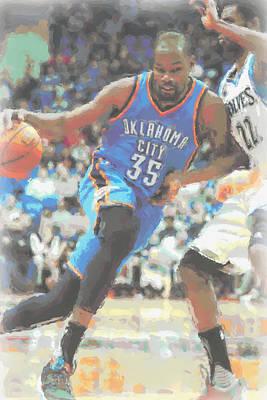 Oklahoma City Thunder Photograph - Oklahoma City Thunder Kevin Durant by Joe Hamilton