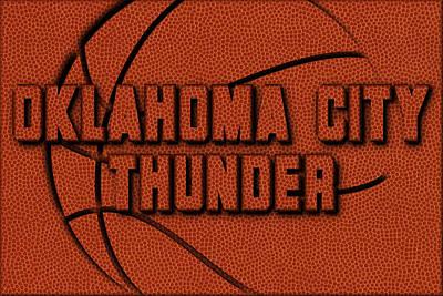 Oklahoma Photograph - Oklahoma City Thunder Leather Art by Joe Hamilton