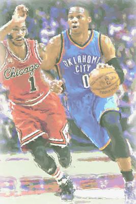 Oklahoma City Thunder Photograph - Oklahoma City Thunder Russell Westbrook by Joe Hamilton