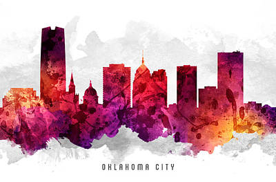 Oklahoma Cityscape 14 Art Print by Aged Pixel