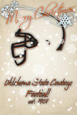 Oklahoma State University Photograph - Oklahoma State Cowboys Christmas Card by Joe Hamilton