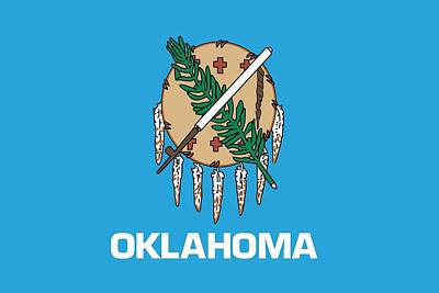 Okc Painting - Oklahoma State Flag by American School