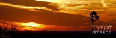 Art Print featuring the photograph Oklahoma Sunset by Larry Keahey