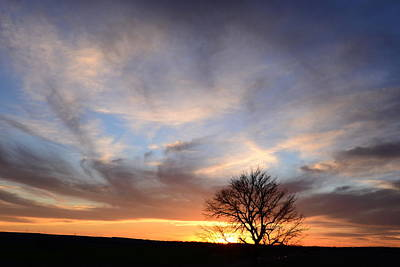 Photograph - Oklahoma Sunset by Vonda Barnett