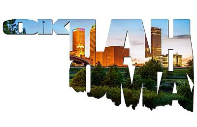 Photograph - Oklahoma Typographic Letters - Beautiful Tulsa Oklahoma - Central Park by Gregory Ballos