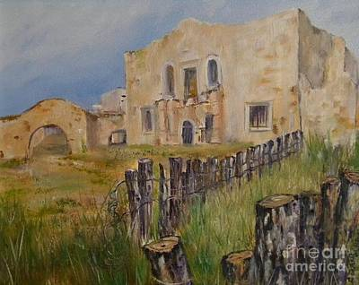 Painting - Ol' Alamo Village by Cheryl Damschen