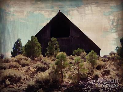 Photograph - Ol Barn Painting  by Bobbee Rickard