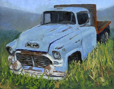 Truck Painting - Ol' Blue by David King