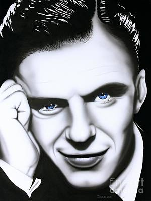Sinatra Painting - Ol' Blue Eyes by Bruce Carter