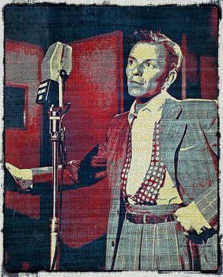 Digital Art - Ol' Blue Eyes - Frank Sinatra by Absinthe Art By Michelle LeAnn Scott