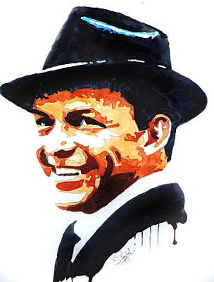 Sinatra Painting - Ol' Blue Eyes by Steven Ponsford