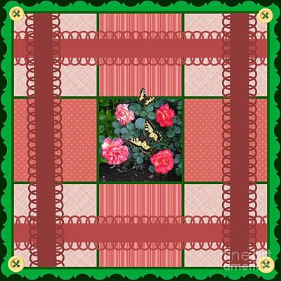 Photograph - Ol Fashion Rose Square Quilt Design by Bobbee Rickard