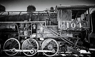 Steam Engine Photograph - Ol' No. 104 by Joseph Smith