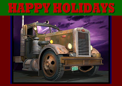 Digital Art - Ol' Pete Happy Holidays by Stuart Swartz