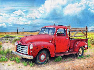 Painting - Ol' Red by Rhonda Dicksion