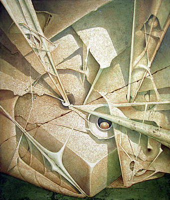 Cosmic Space Painting - Ol1962dc002 Formas En Ascenso 58x49 by Alfredo Da Silva