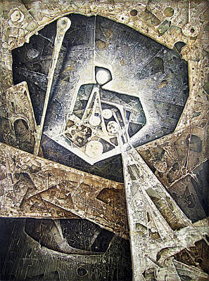 Cosmic Space Painting - Ol1966ar002ba Cosmic Unconsious 44x66 by Alfredo Da Silva