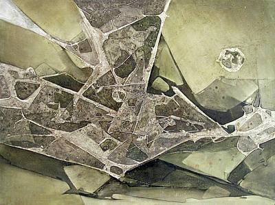 Cosmic Painting - Ol1974ny001 Desplasamiento 44 X 60 by Alfredo Da Silva
