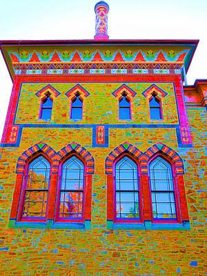 Church Pillars Painting - Olana 9 by Lanjee Chee
