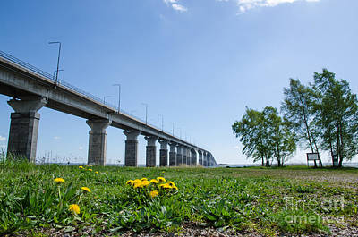 Photograph - Oland Bridge At Spring by Kennerth and Birgitta Kullman