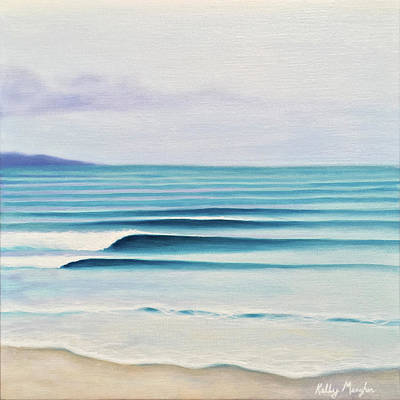 Waterscape Painting - Olas by Kelly Meagher
