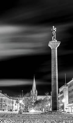 Rusty Trucks - Olav Tryggvason statue and Nidaros Cathedral  by Aziz Nasuti