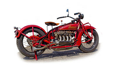 Photograph - Old 1930's Indian Motorcycle by Mamie Thornbrue