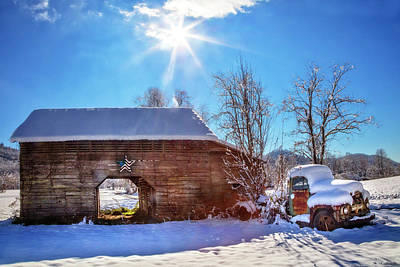 Abandoned Cabins Smoky Mountains Wall Art - Photograph - Old 1952 Ford Under The Sun by Debra and Dave Vanderlaan