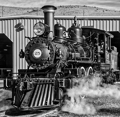 Photograph - Old 25 At Train Barn by Garry Gay