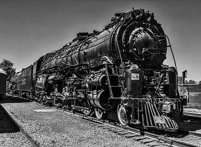Photograph - Old 2925 Train In Black And White by Garry Gay