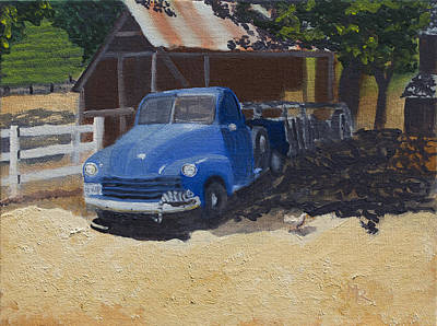 Painting - Old '53 Chevy Truck by Mike Robles