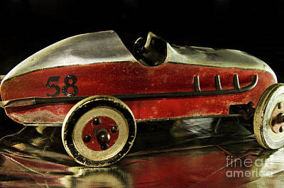 Photograph - Old 58 Toy Race Car by Wilma Birdwell