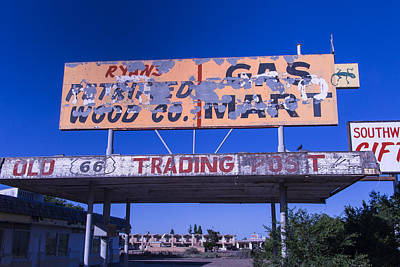 Old 66 Trading Post Art Print by Garry Gay