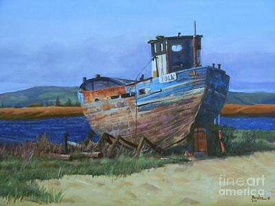 Painting - Old Abandoned Boat by Noe Peralez