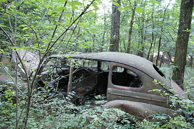 Photograph - Old Abandoned Car by Toni Berry