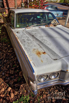 Photograph - Old Abandoned Car Weare New Hampshire by Edward Fielding