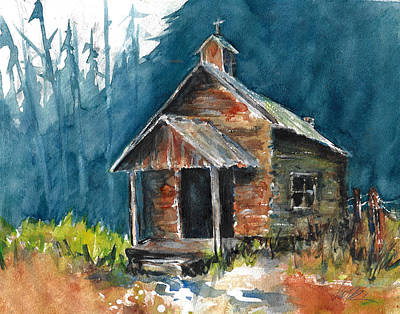 Painting - Old Abandoned Church In The Ozarks by Jacki Kellum