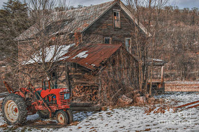 Abandoned Digital Art - Old Abandoned Farm Homestead by Randy Steele