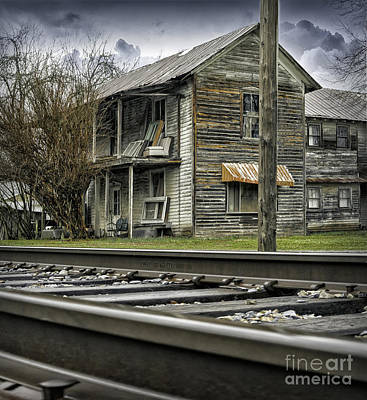 Photograph - Old Abandoned House By The Railroad Track 2 by Walt Foegelle