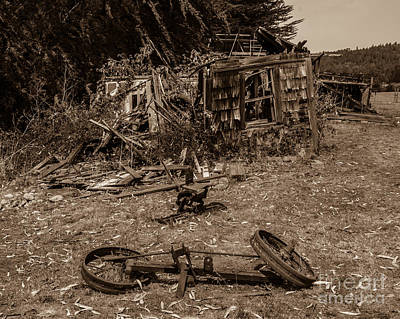 Photograph - Old Abandoned House Fort Ross Sonoma County by Blake Webster