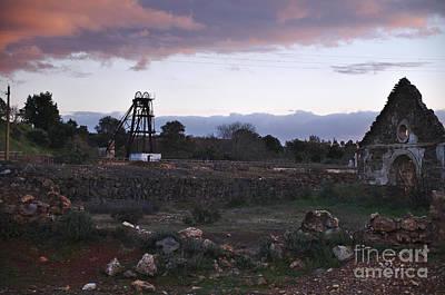 Old Abandoned Mine Complex In Mertola Art Print