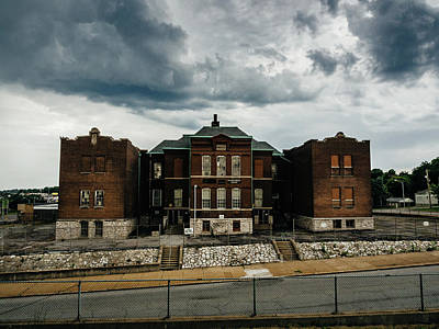 Photograph - Old Abandoned School And Stormy Skies by Dylan Murphy