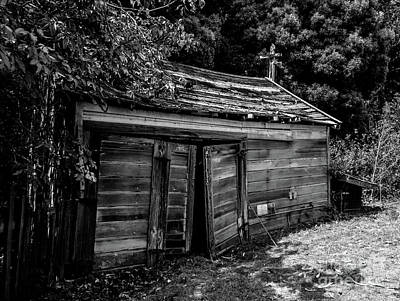 Photograph - Old Abandoned Shed Fort Ross In Black And White by Blake Webster