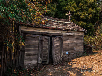 Photograph - Old Abandoned Shed Sonoma County by Blake Webster