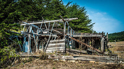 Photograph - Old Abandoned Structure Sonoma County by Blake Webster